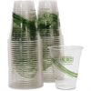 Eco-Products GreenStripe Cold Cups - 12 oz - 500 / Carton - Clear, Green - Polylactic Acid (PLA) - Cold Drink