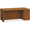 "HON Valido Series Bourbon Cherry Laminate Desking - 72"" x 36"" x 29.5"" - 3 x File Drawer(s), Box Drawer(s) - Single Pedestal on Right Side - Ribbon Edge - Material: Particleboard - Finish: Laminate, Bo"
