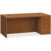 "HON Valido Series Bourbon Cherry Laminate Desking - 72"" x 36"" x 29.5"" - 3 x File Drawer(s), Box Drawer(s) - Single Pedestal on Right Side - Ribbon Edge - Material: Particleboard - Finish: Laminate, Bo"