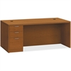 "HON Valido Series Bourbon Cherry Laminate Desking - 72"" x 36"" x 29.5"" - 3 x File Drawer(s), Box Drawer(s) - Single Pedestal on Left Side - Ribbon Edge - Finish: Laminate, Bourbon Cherry"