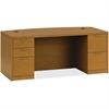 "HON Valido Series Bourbon Cherry Laminate Desking - 72"" x 36"" x 29.5"" - 5 x File Drawer(s) - Double Pedestal on Left/Right Side - Ribbon Edge - Material: Particleboard - Finish: Laminate, Bourbon Cher"