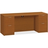 "HON Valido Series Bourbon Cherry Laminate Desking - 72"" x 24"" x 29.5"" - 4 x File Drawer(s) - Double Pedestal on Left/Right Side - Ribbon Edge - Material: Particleboard - Finish: Laminate, Bourbon Cher"