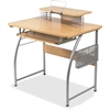 "Lorell Upper Shelf Laminate Computer Desk - Rectangle Top - 23.60"" Table Top Width x 35.40"" Table Top Depth - 35.20"" Height - Assembly Required - Maple - Metal"