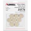 """Lorell Self-Stick Round Felt Floor Glides - 1"""" Diameter - Felt - Beige"""