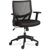 "Lorell Flex Back Task Chair - Fabric Black Seat - Plastic Black Back - 5-star Base - 18.50"" Seat Width x 17.50"" Seat Depth - 24"" Width x 24"" Depth x 35.8"" Height"
