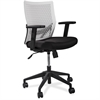 "Flex Back Task Chair - Fabric White Seat - Plastic White Back - 5-star Base - 18.50"" Seat Width x 17.50"" Seat Depth - 24"" Width x 24"" Depth x 35.8"" Height"