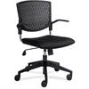 "Plastic Back Task Chair - Fabric Black Seat - Plastic Black Back - 5-star Base - 17.30"" Seat Width x 18.10"" Seat Depth - 24"" Width x 24"" Depth x 35.3"" Height"