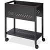 "Lorell 24"" File Cart - 4 Casters - 1.88"" Caster Size - Steel - 13.3"" Width x 24"" Depth x 27"" Height - Black"