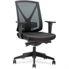"Lorell Steel Frame Mid-back Chair - Fabric Black Seat - Black Back - Steel Frame - 5-star Base - Black - 18.50"" Seat Width x 18.50"" Seat Depth - 27.8"" Width x 28"" Depth x 41.5"" Height"