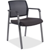 "Lorell Guest Chair - Fabric Black, Plastic Seat - Black Back - Black - 18.75"" Seat Width x 18.38"" Seat Depth - 22.9"" Width x 22.6"" Depth x 32.1"" Height"