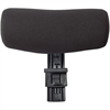 Lorell Mid-Back Mesh Chair Optional Headrest - Black - 1 Each