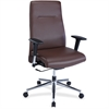 "Lorell Leather Suspension Chair - Bonded Leather Brown Seat - Bonded Leather Brown Back - 5-star Base - 20.50"" Seat Width x 18"" Seat Depth - 26"" Width x 26"" Depth x 45"" Height"