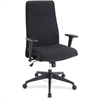 Lorell Synchro-tilt High-back Suspension Chair - Fabric Black Seat - Fabric Black Back - 5-star Base
