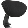 Lorell Mid-back Chair Mesh Headrest - Black - 1 Each