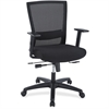"Lorell Ergonomic Mid-back Mesh Chair - Fabric Black Seat - Black Back - 5-star Base - Black - 19.75"" Seat Width - 25.6"" Width x 25.3"" Depth x 42.5"" Height"