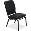 "Lorell Vinyl Back/Seat Oversized Stack Chairs - Vinyl Black Seat - Vinyl Black Back - Steel Frame - Four-legged Base - 21"" Seat Width x 15"" Seat Depth - 21"" Width x 25"" Depth x 35.5"" Height"