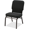 "Lorell Big and Tall Oversized Stack Chair - Fabric Black Seat - Fabric Black Back - Steel Frame - Four-legged Base - 21"" Seat Width x 15"" Seat Depth - 21"" Width x 25"" Depth x 35.5"" Height"