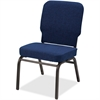 "Big and Tall Oversized Stack Chair - Fabric Navy Seat - Fabric Navy Back - Steel Frame - Four-legged Base - 21"" Seat Width x 15"" Seat Depth - 21"" Width x 25"" Depth x 35.5"" Height"