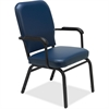 "Fixed Arms Vinyl Oversized Stack Chairs - Vinyl Navy Seat - Vinyl Navy Back - Steel Frame - Four-legged Base - 21"" Seat Width x 15"" Seat Depth - 25.5"" Width x 25"" Depth x 35.5"" Height"