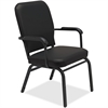 "Lorell Fixed Arms Vinyl Oversized Stack Chairs - Vinyl Black Seat - Vinyl Black Back - Steel Frame - Four-legged Base - 21"" Seat Width x 15"" Seat Depth - 25.5"" Width x 25"" Depth x 35.5"" Height"