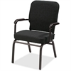 "Lorell Big and Tall Oversized Stack Chair with Arms - Fabric Black Seat - Fabric Black Back - Steel Frame - Four-legged Base - 21"" Seat Width x 15"" Seat Depth - 25.5"" Width x 25"" Depth x 35.5"" Height"