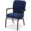 "Lorell Big and Tall Oversized Stack Chair with Arms - Fabric Navy Seat - Fabric Navy Back - Steel Frame - Four-legged Base - 21"" Seat Width x 15"" Seat Depth - 25.5"" Width x 25"" Depth x 35.5"" Height"