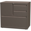 "Lorell 30"" Personal Storage Center Lateral File - 30"" x 18.6"" x 28"" - 3 x Drawer(s) for File, Box - A4, Letter, Legal - Hanging Rail, Glide Suspension, Grommet, Cable Management, Interlocking, Reinfor"