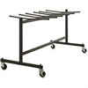 "Lorell Folding Chair Trolley - 30.8"" Width x 35.8"" Depth x 68"" Height - Black Steel Frame - Black - For 42 Devices"