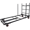 "Lorell Blow Mold Rectangular Table Trolley Cart - Steel - 30"" Width x 45.3"" Depth x 75.9"" Height - Charcoal - For 20 Devices"