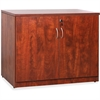 "Lorell Essentials Series Cherry 2-door Storage Cabinet - 22"" x 35.5"" x 29.5"" - 2 x Door(s) - Cherry - Laminated - Melamine Faced Chipboard (MFC)"