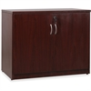 "Lorell Essentials Series Mahogany 2-door Storage Cabinet - 22"" x 35.5"" x 29.5"" - 2 x Door(s) - Mahogany - Laminate - Melamine Faced Chipboard (MFC) - Assembly Required"