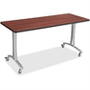 "Safco Rumba Training Table T-leg Base w/Casters - T-shaped Base - 2 Legs - 25.25"" Height x 5.25"" Width"