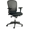"Safco Adjustable Arms Black Fabric Task Chair - Fabric Black Seat - Poly Back - Black Frame - 5-star Base - Black - 24.8"" Width x 26"" Depth x 39"" Height"