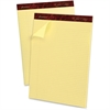 "Ampad Gold Fibre Narrow Ruled Prem. Writing Pads - 50 Sheets - Watermark - Stapled/Glued - 16 lb Basis Weight - Letter 8.50"" x 11.75"" - Canary Yellow Paper - 1Dozen"