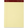 "TOPS Gold Fibre Premium Rule Writing Pads - 50 Sheets - Watermark - Stapled/Glued - 20 lb Basis Weight - Letter 8.50"" x 11"" - Yellow Paper - 4 / Pack"