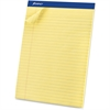 "Ampad Basic Perforated Writing Pads - 50 Sheets - Printed - Stapled - 15 lb Basis Weight - Legal 8.50"" x 11.50"" - Canary Yellow Paper - 1Dozen"