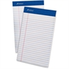 "Ampad Perforated Ruled Pads - 50 Sheets - Printed - Stapled - 20 lb Basis Weight 5"" x 8"" - White Paper - White Cover - 1Dozen"