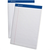 "Ampad Perforated Ruled Pads - 50 Sheets - Printed - Stapled - 20 lb Basis Weight - Letter 8.50"" x 11"" - White Paper - White Cover - 1Dozen"