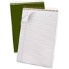 """Ampad Gold Fibre Classic Wirebound Legal Pads - 70 Sheets - Printed - Wire Bound - 20 lb Basis Weight 8.50"""" x 11.75"""" - White Paper - Classic Green Cover - 1Each"""