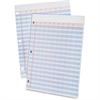 "Ampad Heavyweight 3-Hole Punched Data Pads - 50 Sheet(s) - 20 lb - 11"" x 8.50"" Sheet Size - 3 x Holes - White Sheet(s) - 50 / Pad"