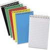 "Ampad Pocket Size Memo Notebook - 50 Sheets - Printed - Wire Bound 3"" x 5"" - White Paper - Assorted Cover - Pressboard Cover - 1Each"