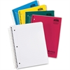 """Ampad Earthwise College-Ruled 5-Sbj Notebk - 240 Sheets - Printed - Twin Wirebound - Letter 8.50"""" x 11"""" - White Paper - Assorted Cover - 1Each"""