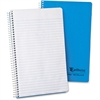 "Ampad Earthwise Recycled Wirebnd Notebook - 80 Sheets - Printed - Wire Bound 6"" x 9.50"" - Blue Cover - 1Each"