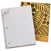 "Ampad Earthwise Recycled 3HP Notebook - 80 Sheets - Printed - Wire Bound - Letter 8.50"" x 11"" - White Paper - Tan Cover - Kraft Cover - 1Each"