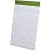 "Ampad Earthwise Recycled Writing Pads - 40 Sheets - Printed - Both Side Ruling Surface - 20 lb Basis Weight - 5"" x 8"" - White Paper - Recycled - 6 / Pack"