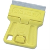 "Stanley Mini Razor Blade Scraper - Light Weight, Light Duty, Retractable, Lanyard Hole - 1.50"" Head - Plastic - Silver, Yellow"