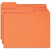 Business Source Colored File Folder - 1/3 Tab Cut - 11 pt. Folder Thickness - Orange - Recycled - 100 / Box