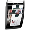CEP 5-Compartment Crystal Dividers Wall Rack - 5 Compartment(s) - Wall Mountable - Multi - Polystyrene - 1Each