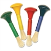 ChenilleKraft Wood Knob Paint Brush Set - 4 Brush(es) - Wood, Plastic Handle - Assorted, White