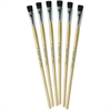 "ChenilleKraft 1/2"" Tempera Brush Set - 6 Brush(es) - 0.50"" Handle - Aluminum Ferrule - Wood Handle - Natural, Black"